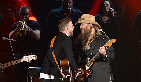 Watch the latest live music videos on couch seats for Justin timberlake chris stapleton drink you away